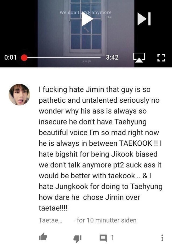 Why do Taekook shippers always pick on Jimin? What did he do