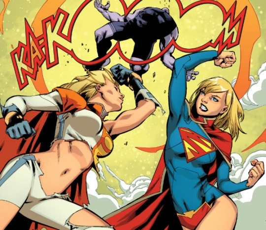 supergirl as Power girl