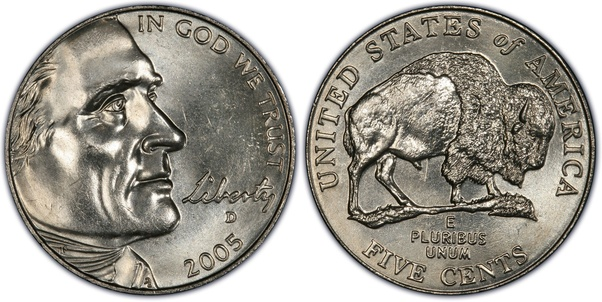 How much is a 2005 buffalo nickel worth? - Quora