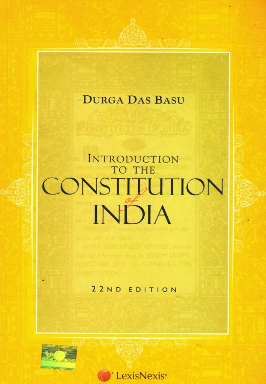 Pdf] introduction to the constitution of india by durga das basu.
