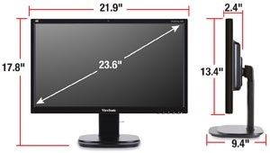 how big is a 24 inch tv quora. Black Bedroom Furniture Sets. Home Design Ideas