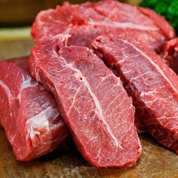 The White Horizontal Line Going Across Steak Is A Piece Of Connective Tissue Butcher Will Sometimes Avoid This By Cutting Same Muscle