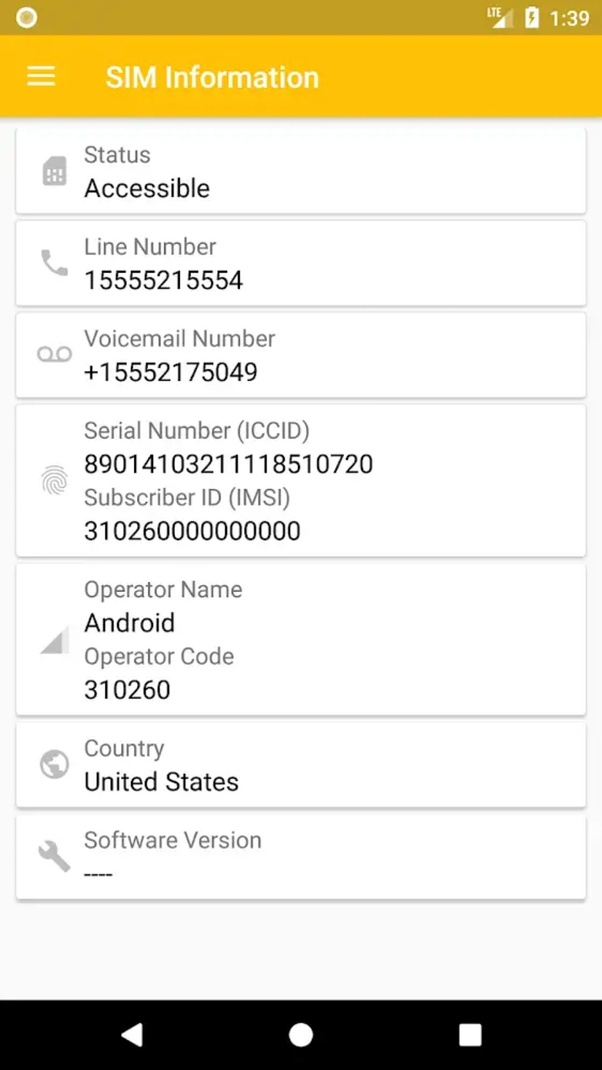 How to know the Aircel SIM number (ICCID), as I have a micro