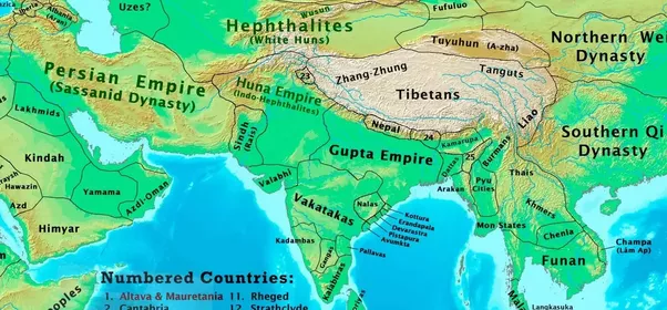 How did the map of india change from 1 ad to the 21st century quora 600 ce harshas empire after the fall of the guptas emperor harsha would take the fight to the hunas and drive away the invaders sciox Image collections