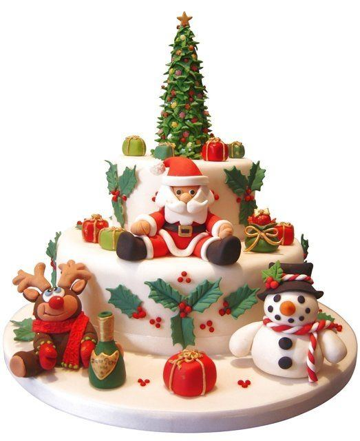 Decorate Christmas Cake Without Icing