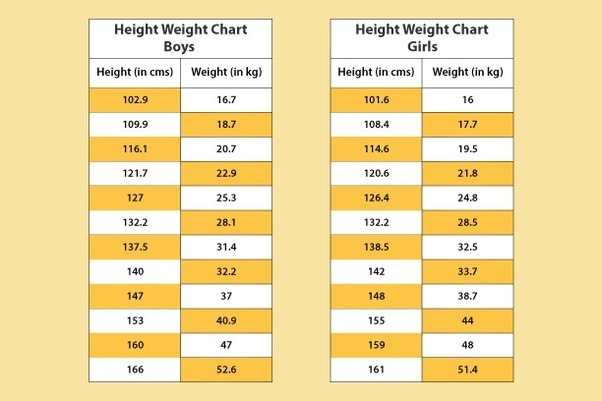 What Are Height And Weight Charts Quora