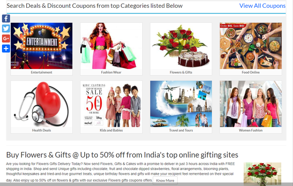 Which is the best coupons and online deals site in india quora also search from for the best deals discounts coupon codes from different online shopping stores at one place through the stores pages fandeluxe Gallery