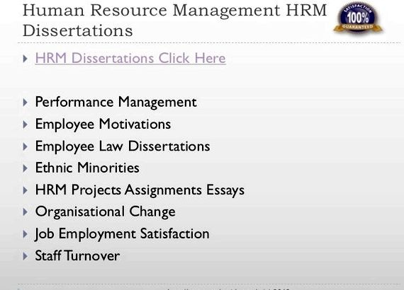 What is the best topic for thesis for HRM students? - Quora