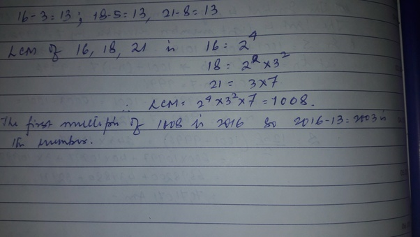 What is the least number which when divided by 16, 18, and