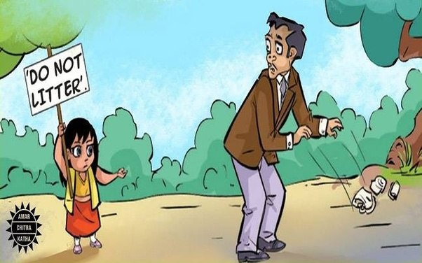Student Painting Cartoon Image