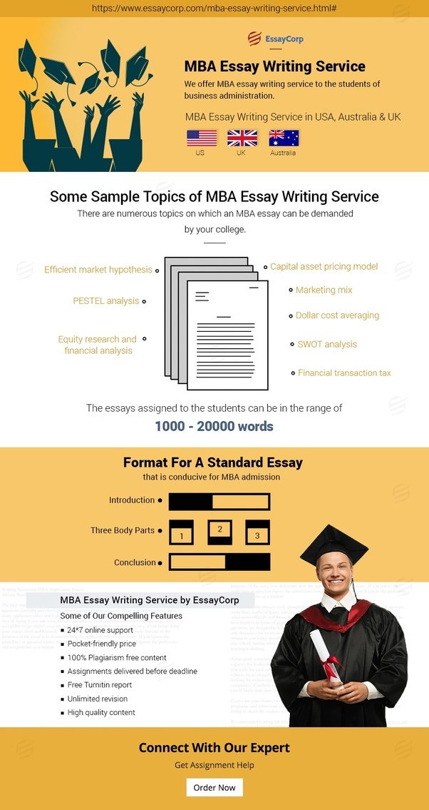 EssayCorp Writers Excel In MBA Essay Writing As Well As In Other Writing  Services.