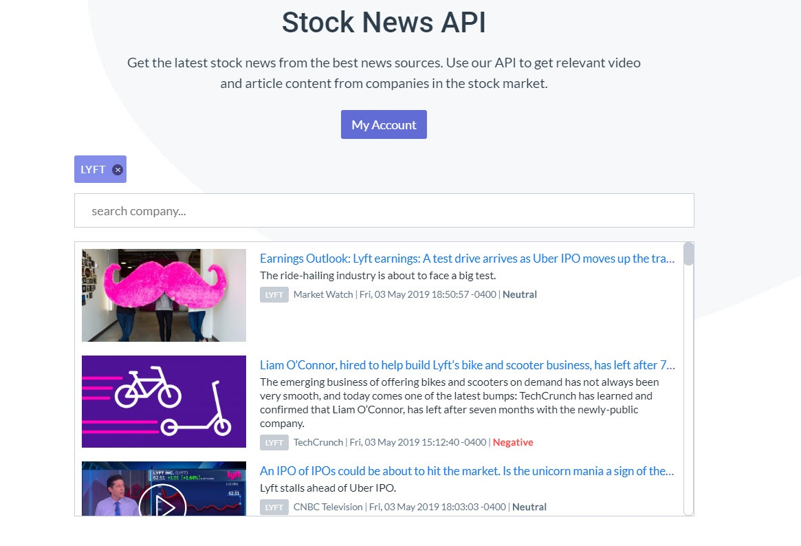 Which Api Returns The Cur News Of
