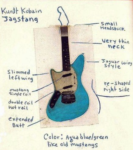 What modifications did Kurt Cobain make to his Guitar? Did the band ...