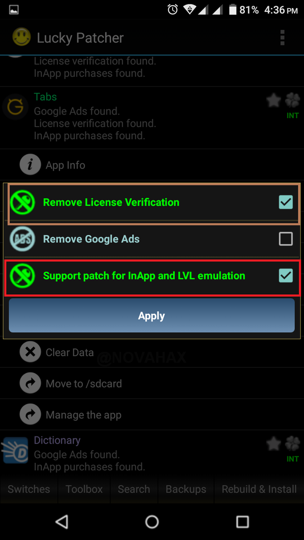 How to remove license verification and billing for the same app with
