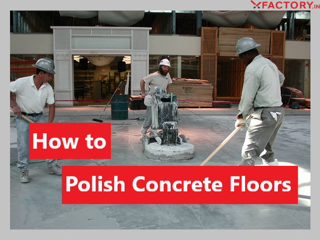 When it comes to polishing concrete floors you may need to use a few things like a floor grinder and concrete polishes along with Polishing disks.