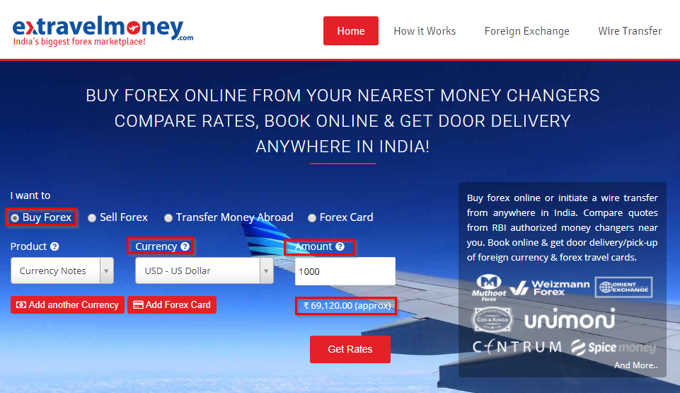 Choose Foreign Currency Select Your Enter The Amount