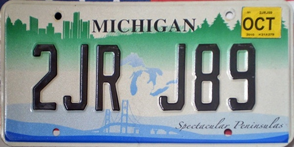 How To Look Up License Plate Number >> What do Michigan license plates look like? - Quora