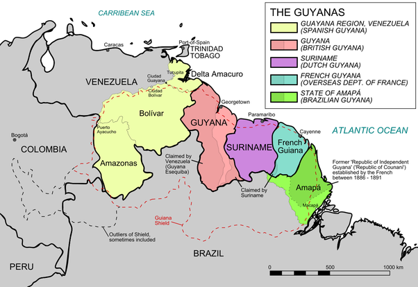 Por que os portugueses não colonizaram as 3 Guianas sendo que os espanhóis não tinham nenhum interesse por elas?  Main-qimg-990d22bea1a307bc7a75a45bb88fc093