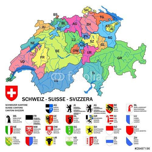 Cantoni Cartina Della Svizzera.Quanti Sono I Cantoni Della Svizzera Quora