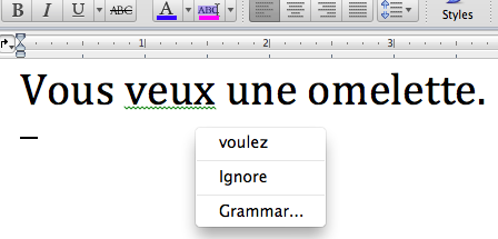 French essay checker
