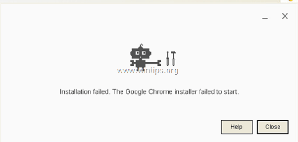 Google chrome failed to install unspecified error