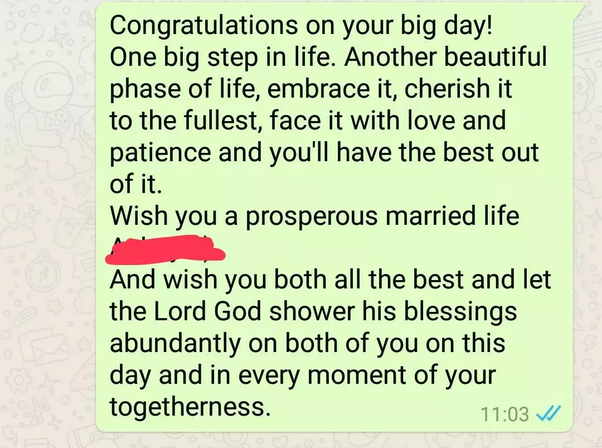 How To Wish A Happy Marriage To My Girlfriend Who Is Getting Married