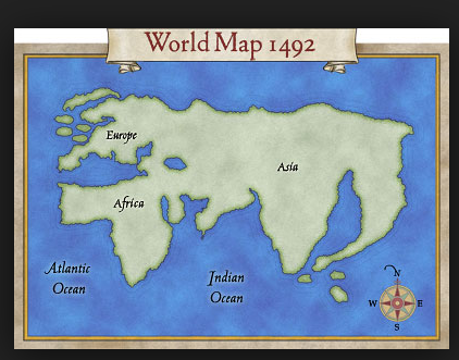 What did the world map look like the day before columbus reached somewhat like the map below but columbus died still believing he had reached east asia a realisation of the new world took longer gumiabroncs Images