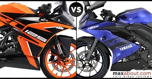 Yamaha R15 V3 Vs KTM RC 125: Which is the best? - Quora