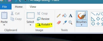 How to rotate an image in Microsoft Paint - Quora