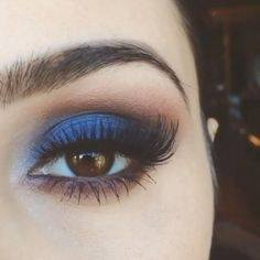 Blues Are Perfect For Making Brown Eyes Pop I M A Bit Envious Of This Because Blue Eye Shadow And Not Always The Best Look