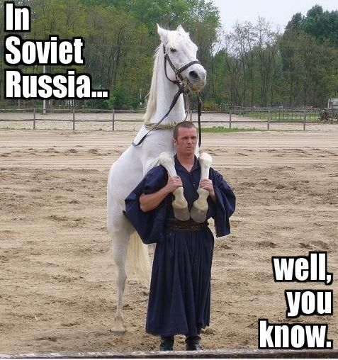 What are some of the best 'In Soviet Russia' jokes/one ...