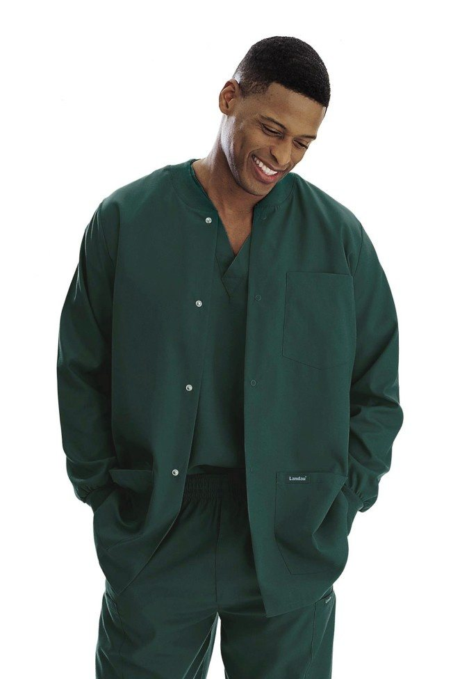 7d6af89d4b0 The reason for the long sleeve jacket on top of the scrub are two-fold: