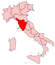 Where is Tuscany Italy located at on a map of Italy Quora