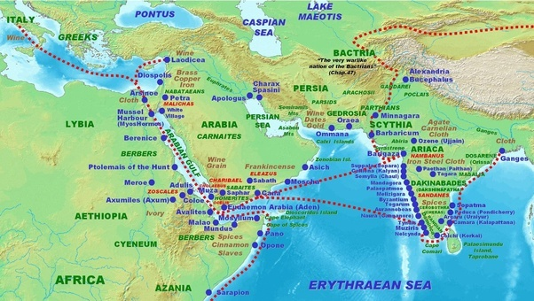 What did the romans know of outside of europe quora above roman trade in the subcontinent according to the periplus maris erythraei 1st century ce publicscrutiny Images