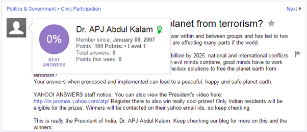 What are some famous stories about apj abdul kalam quora he once asked a question on yahoo answers beat that quora stopboris Images