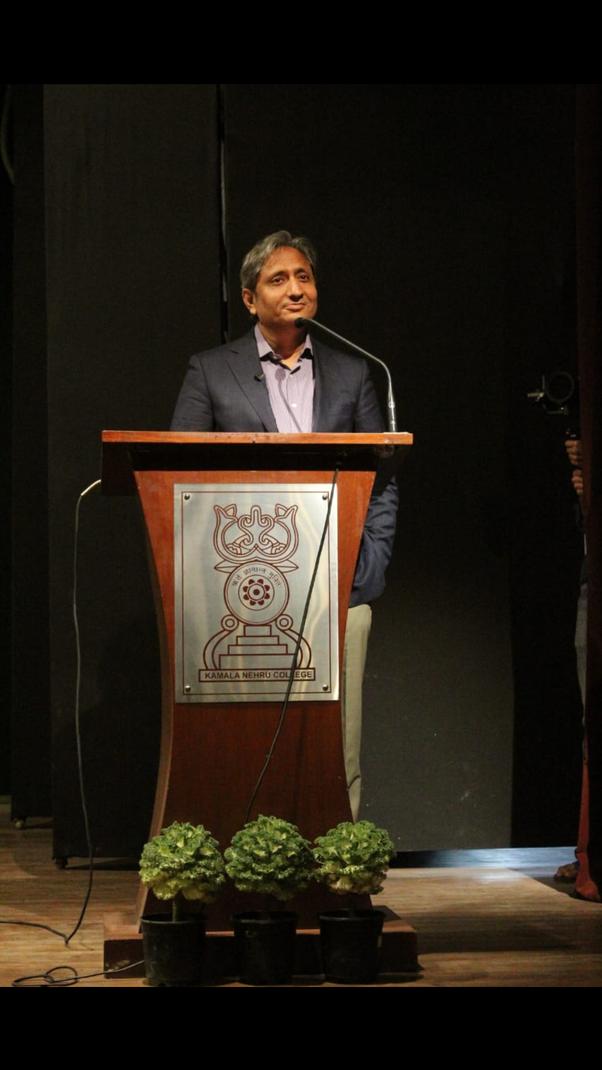 What do you think about Ravish Kumar of ndtv? - Quora