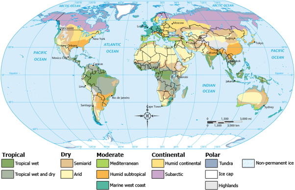What are some different types of maps and their uses quora climate maps are also usually color coded to differentiate between various climate zones such as mediterranean or tundra climates gumiabroncs Gallery