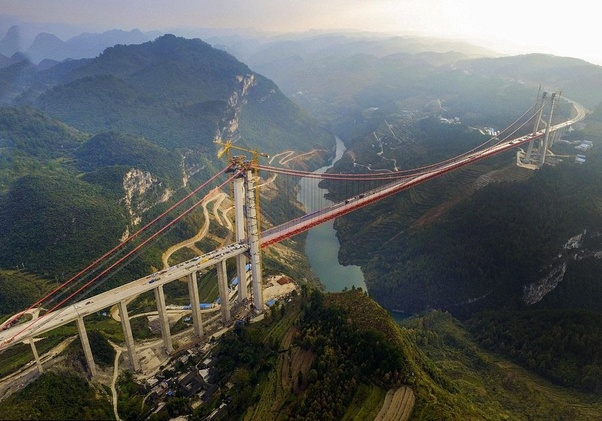 Beipanjiang bridge, Liupanshui, Guizhou (World's highest bridge)