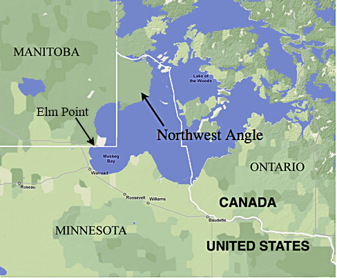 Why is the US/Canada border a straight line for much of its length ...
