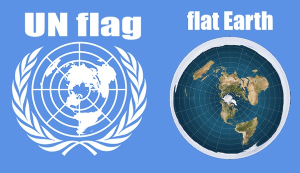 Flat Earth Map Un Why do the Flat Earthers think that the United Nations flag proves