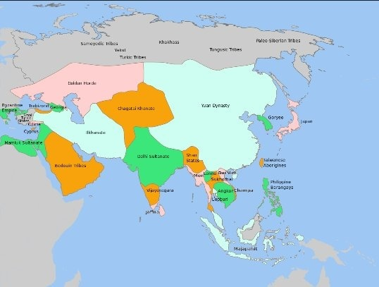 where did the mughals come from on the world map trace the