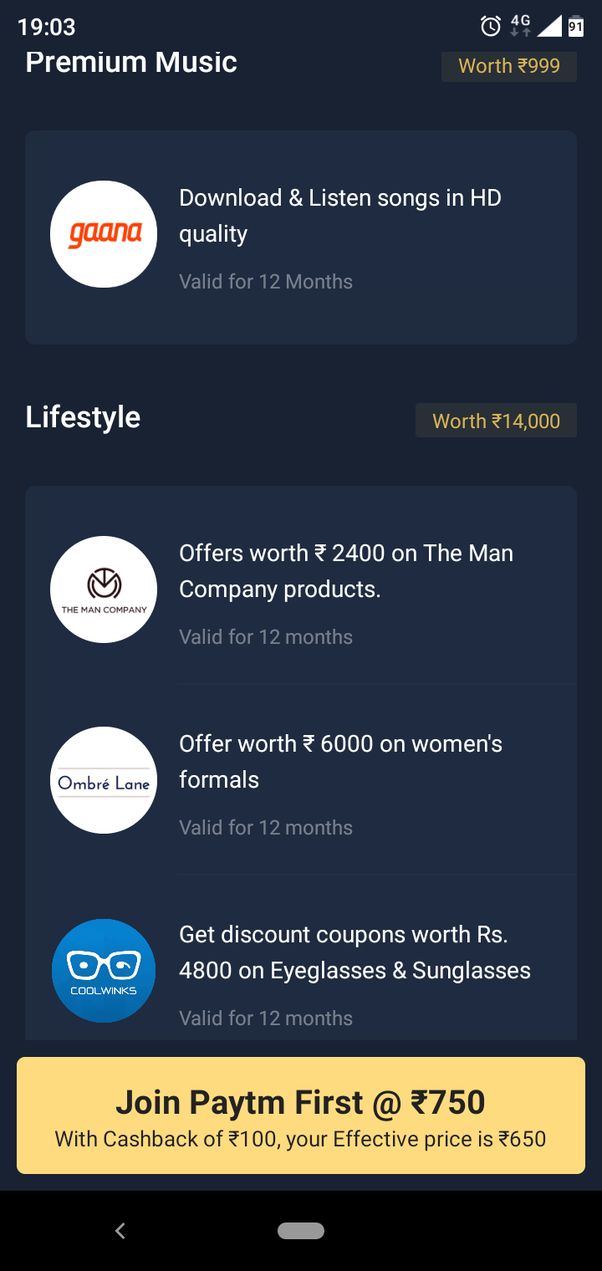 What is your take (review) on PayTm First membership? - Quora
