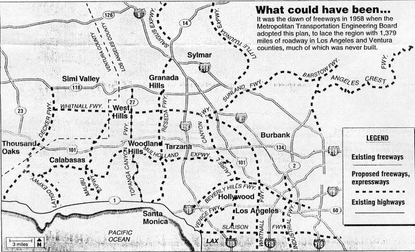 What would los angeles look like if every freeway planned for this freeway system certainly would have alleviated some of the traffic problems in the valley rather than mostly relying on the notoriously crowded 101 publicscrutiny Images