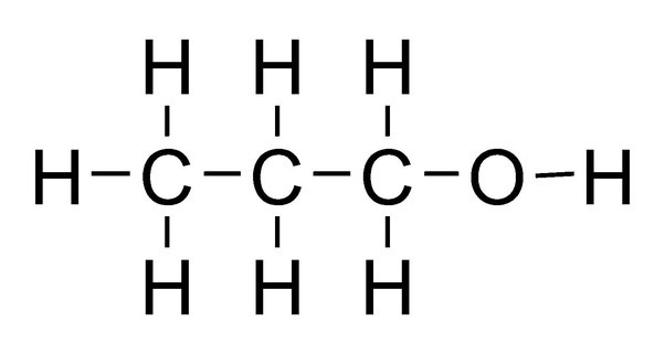 how to draw the lewis structure for 1-propanol