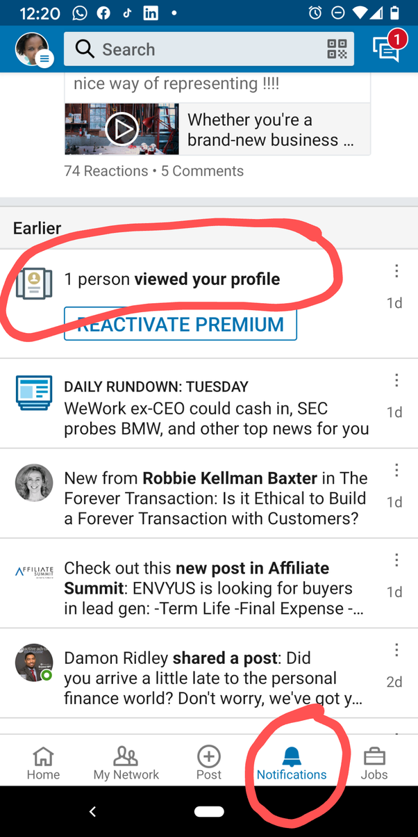 How does the who viewed your profile on LinkedIn work