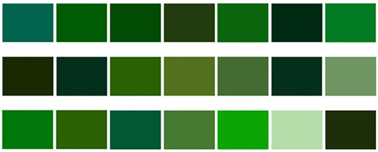 Green Is Obtained By Mixing Yellow And Blue Colors However There Are Many Shades