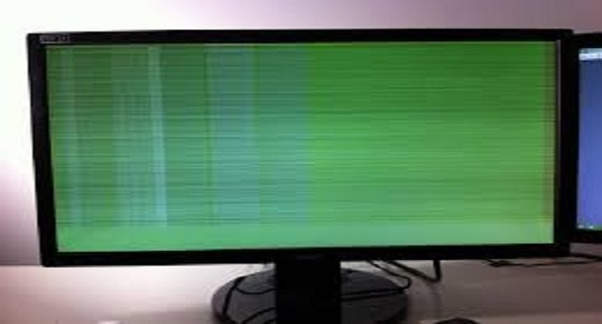 Green lines are appearing on a laptop screen  What is the
