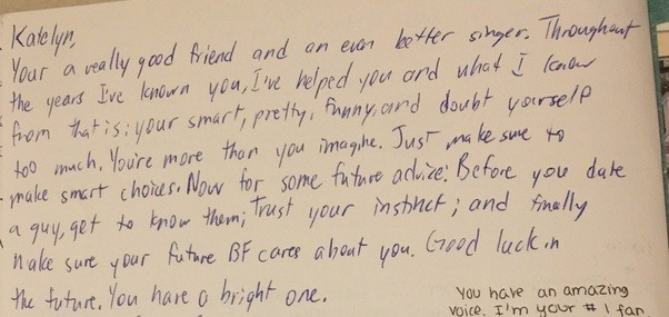 What Was The Best Thing Someone Ever Wrote In Your Yearbook