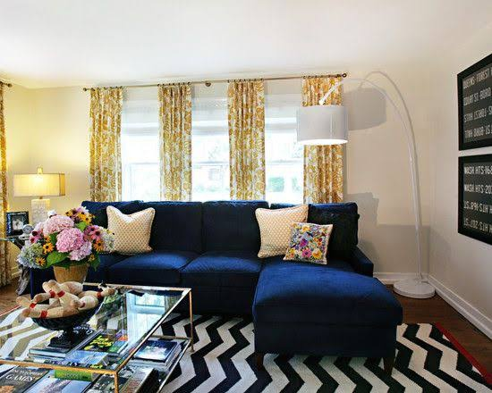 If I Have A Blue Sofa In My Living Room Then Which Color Combination Will Suit It Quora