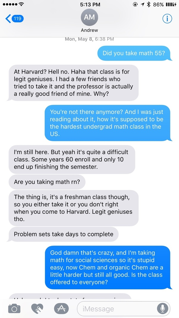 Can a normal Harvard student survive Math 55? By normal, I